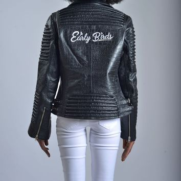 WOMEN MOTO JACKET  BLACK