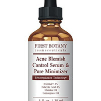First Botany Cosmeceuticals Acne Blemish Control Serum & Pore Minimizer 1 fl. oz - Best Acne Treatment & Anti Acne Serum, Visibly Reduces Blemishes & Pore Reducer