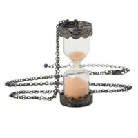 LOVEsick Peach Sand Hourglass Necklace