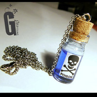 "Miniature ""Poison"" Bottle Necklace"