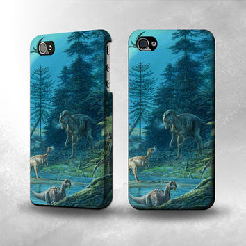 S1346 Jurassic Park Dinosaurs Full Wrap Case Cover for Iphone 5, 5S, 5C, 4, 4S