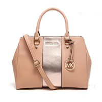 """Michael Kors"" Fashion Multicolor Killer Bag Single Shoulder Messenger Bag MK Women Temperament Large Handbag"