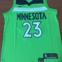 Minnesota Timberwolves #23 Jimmy Bulter Fluorescent Green Basketball Jersey
