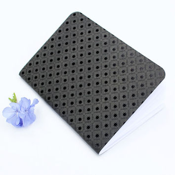 Black Glossy Star Matte Texture Traveler's Notebook Journal Stationary Planner Insert Blank Pages Sketchbook