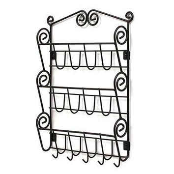 Scroll Letter Key Rack 3tierbk