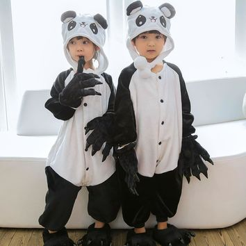 Kids Onesuits  Pikachu Children Totoro Halloween Costume kids Boy Girls Unisex Winter Cosplay Pajamas Warm JumpsuitsKawaii Pokemon go  AT_89_9