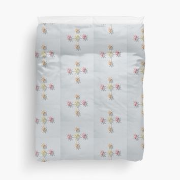 'Geometric pattern diamond' Duvet Cover by ZombieFiend