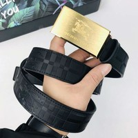 Burberry New fashion pattern leather couple belt