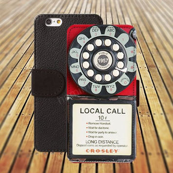 red pay phone iphone 5/ 5s iphone 4/ 4s iPhone 6 6 Plus iphone 5C Wallet Case , iPhone 5 Case, Cover, Cases colorful pattern L056
