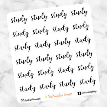STUDY Stickers for your Planner Mini Sheet