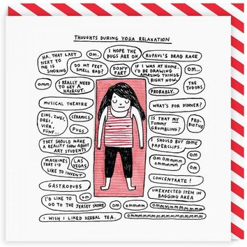 Thoughts During Yoga Relaxation Card