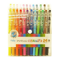 Pilot FriXion Erasable Gel Ink Pens, 0.7mm, Assorted Colors, 24Pack(Japan Import)
