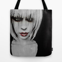Lyric Portrait Tote Bag by Galen Valle