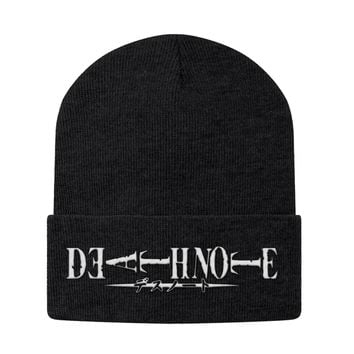 Death Note White Symbol Beanie - PF00330BN
