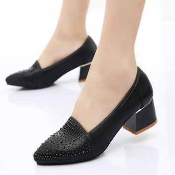 Womens Chic Jewel Work Heels