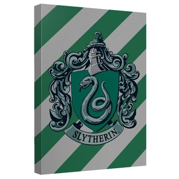 Harry Potter - Slytherin Crest Canvas Wall Art With Back Board
