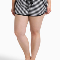 Sleep Striped Pajama Short With Contrast Binding