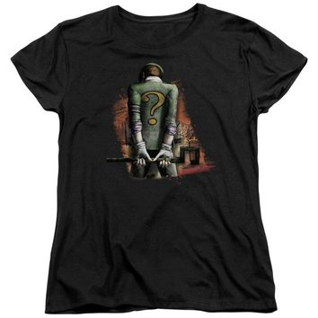 Arkham City - Riddler Convicted Short Sleeve Women's Tee Shirt Officially Licensed T-Shirt