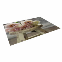 "Cristina Mitchell ""Roses on Stool"" Floral Photography Indoor / Outdoor Floor Mat"