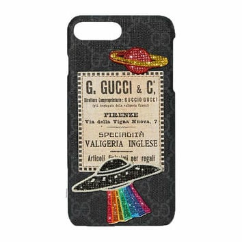 Custom Gucci Night Courrier iPhone Case Made with Swarovski Elements