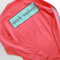 Simply Southern Logo Tee-Coral