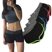 Fitness Elastic Leisure Shorts Women Casual Anti Emptied Skinny Shorts Sexy Cotton Workout Swaetpant Cotton Shorts Casual