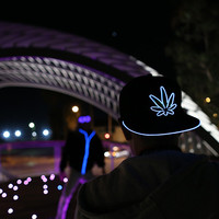 Light Up Marijuana Hat
