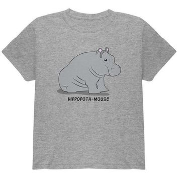 CREYCY8 Hippo Mouse Hippopotamouse Funny Pun Youth T Shirt