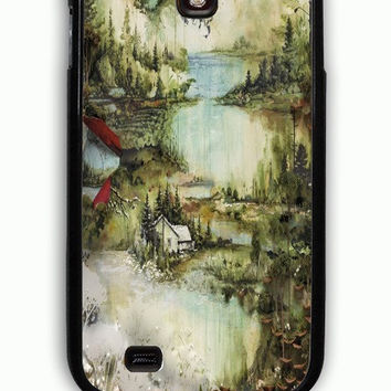 Samsung Galaxy S4 Case - Rubber (TPU) Cover with Bon Iver Rubber Case Design