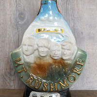 Vintage Jim Beam South Dakota Mount Rushmore Collectible Souvenir Whiskey Decanter