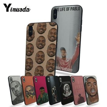 Yinuoda Kanye Omari West Hot selling fashion design cell Case For iphone 8 8plus 7 7plus 6 6plus 5 5s 5c SE Mobile cover