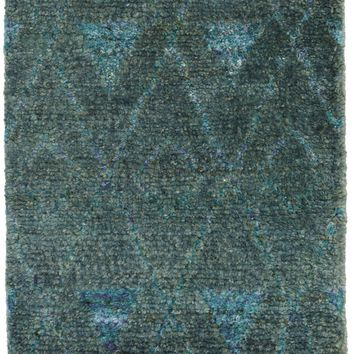 Emerald Hand Knotted Jute Rug