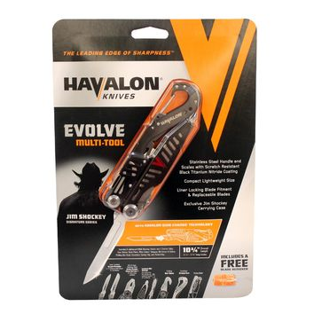 Evolve -  Shockey Signature Series Multi Tool with Sheath, Clam Package