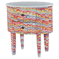 Lily Nightstand, Red/Purple/MultiSteven Shell