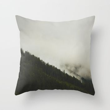 Evergreen Mist Throw Pillow by Mixed Imagery