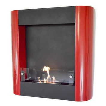 Nu-Flame Focolare Muro Rosso Wall Mounted Ethanol Fireplace (NF-W3FOR)