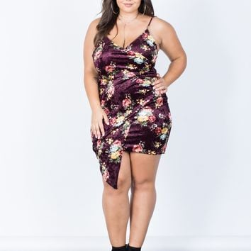 Plus Size Charming Velvet Dress