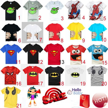 HOT 2017 New Summer children clothes boys girls unisex t shirt cartoon Minions kids short sleeve t-shirts 100% cotton