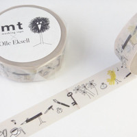 Bird Pencil, Olle Eksell - Japanese Washi Masking Tape - Kawaii Collage, Gift Wrapping -  MTOLLE03