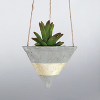 Air Planter, Concrete Planter, Hanging Planter, Succulent Planter, Modern Planter, Geometric Planter, Mini Planter, Indoor Planter, Gold