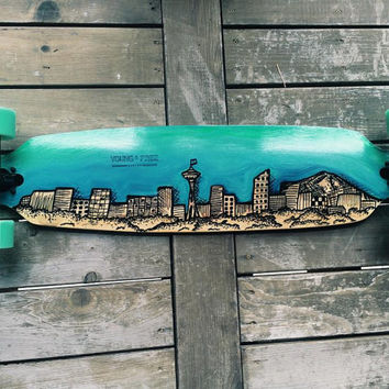 Seattle Skyline Longboard