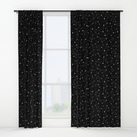 Constellations (Black) Window Curtains by LordofMasks