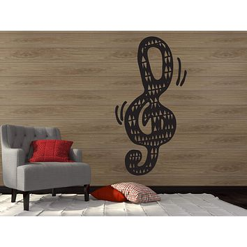 Wall Vinyl Sticker Decal Musical Key Notes Music Art School Wall Decor Unique Gift (n325)