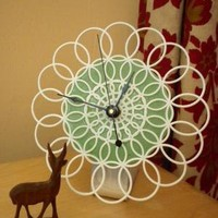desktop doily clock by andfurthermore on Etsy