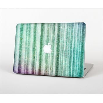 The Green and Purple Dyed Textile Skin Set for the Apple MacBook Pro 13""