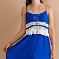 Atlantic Ocean Fringe Dress