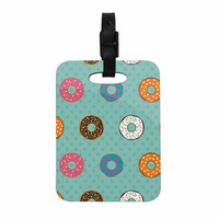 "Juan Paolo ""Doughnut Brigade"" Food Teal Decorative Luggage Tag"