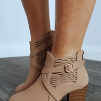 Walk That Path Booties: Dusty Taupe