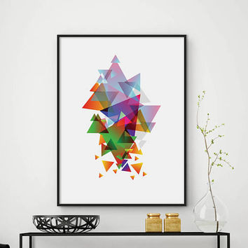 Abstract print, geometric abstract, abstract wall art, geometric poster, minimalist print, modern wall decor, home decor, DIGITAL FILES