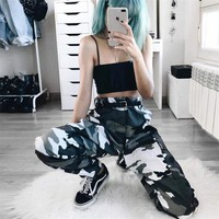 DCKL73 Women's Fashion Street Camouflage Casual Pants [231671037967]
